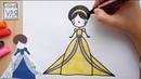 Как нарисовать принцессу Золушку Няня Уля Рисование для детей 2