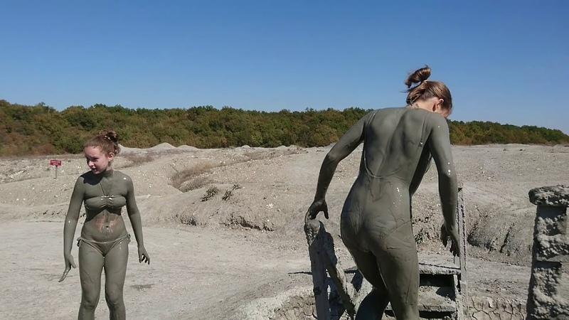 Mud Volcano Shugo Crazy swimming Вулкан Шуго Сумасшедшее купание