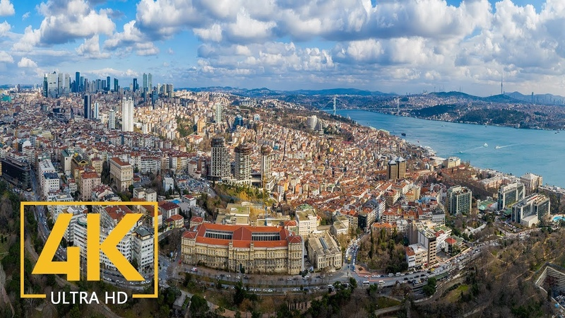 ISTANBUL in 4K A Virtual Trip to the Heart of Turkey 10 Bit Color Urban Relax Video