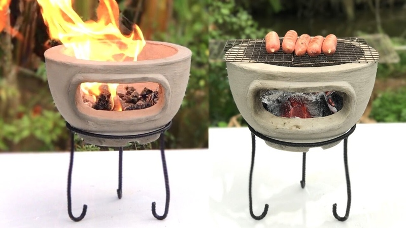 Creative And Simple - How to build a multi purpose oven with cement and plastic pots at home