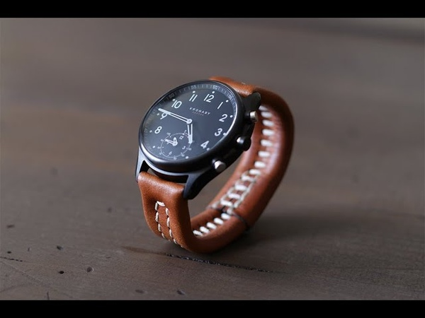 Making the SHOCKBAND watch strap a hardware free leather band with a hidden shock cord closure
