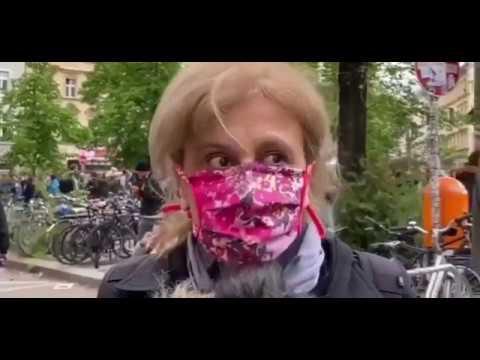 Canan Bayram nahm aus Wut auf die Merkel Regierung an der verbotenen r1mb Demo teil