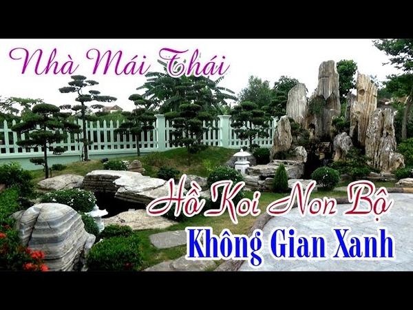 Nhà Mái Thái Với Hồ Koi Non Bộ Không Gian Xanh Đẹp Tuyệt Vời