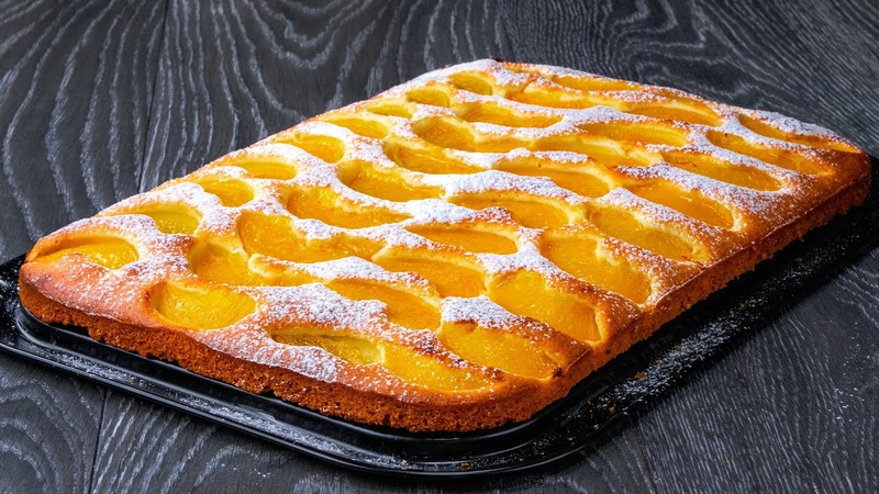 Amazing fluffy compote peach cake recipe The guarantee of a PERFECT WEEKEND Cookrate
