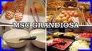 Breakfast Tour in the Buffetrestaurant Marketplace on the MSC Grandiosa DJI OSMO Pocket 4K