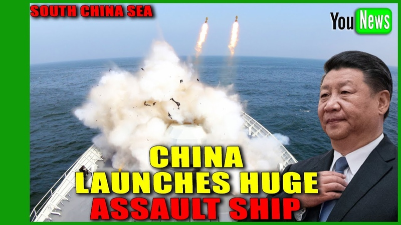 South China Sea US allies urged to rush to area as China launches huge assault ship