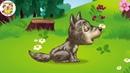 ЗВУКИ ЖИВОТНЫХ для самых маленьких- развивающие мультики для детей-как говорят животные,лісові звірі