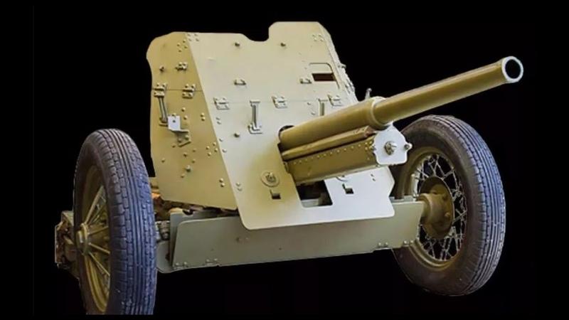 Советская 45-мм противотанковая пушка образца 1932 г. 19-К