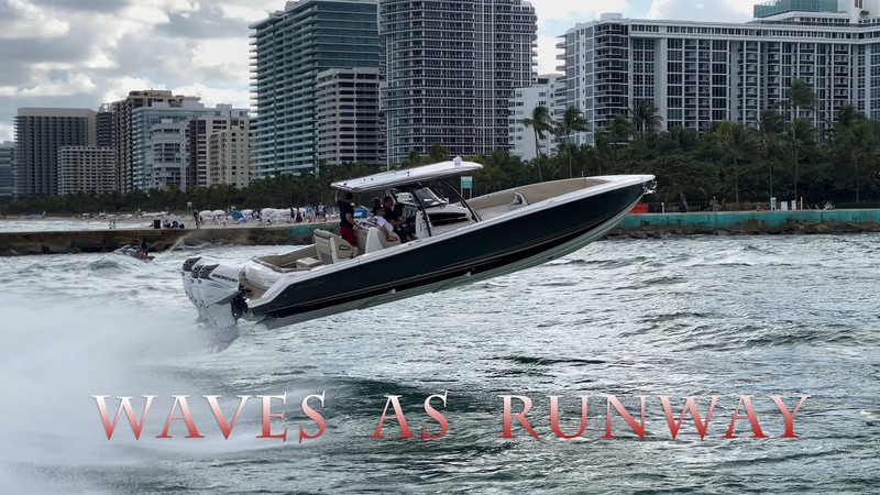 South Florida Way to Fly | HAULOVER Inlet RUNWAY | Boats vs rough waves | Full speed | No limit