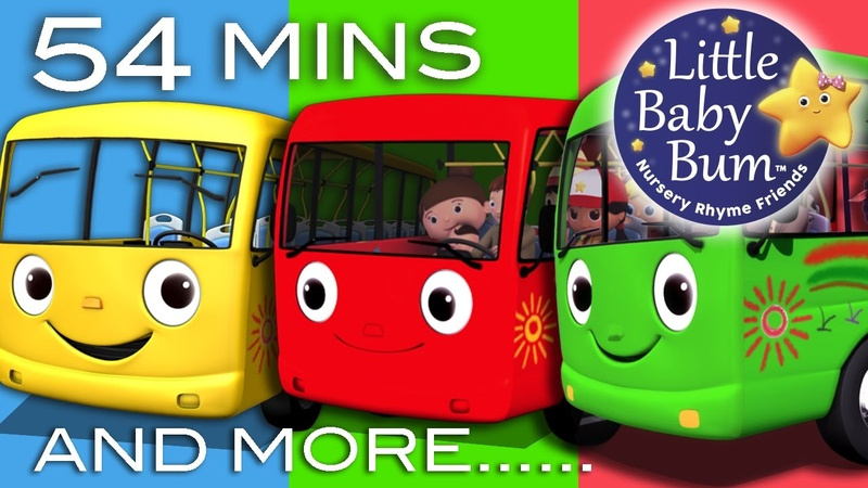 Wheels On The Bus Nursery Rhymes for Babies Learn with Little Baby Bum ABCs and 123s
