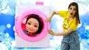 Испорчено платье куклы БАРБИ! Видео для девочек - играем в мамы и дочки