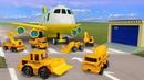 Рабочие машины летят спасать! Развивающие мультики для детей про машинки-помощники Брудер