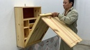Amazing Utilities Of Woodworking For Tight Spaces - Build Wall Cabinet Combined With Folding Table