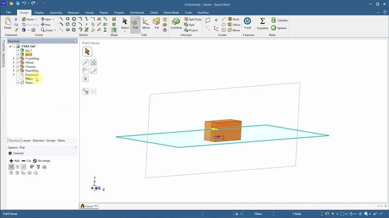 Aerodynamics of a FSAE Car Geometry Preparation in ANSYS SpaceClaim Part 1