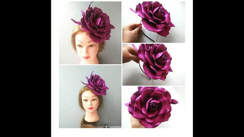 Как сделать Розу- Шляпку на ободке