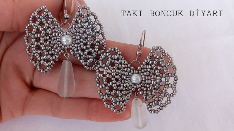 GÜMÜŞ KURDELE KÜPE YAPIMISILVER RIBBON EARRINGS MADE DİY