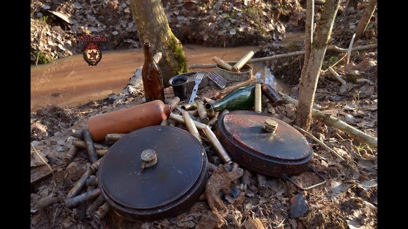 Противотанковые мины из блиндажа Anti-tank mines from the dugout