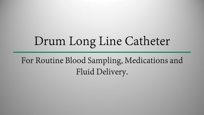 MILA Drum Long Line Catheter