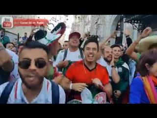 Mexicanos provocan a la barra argentina en Moscú