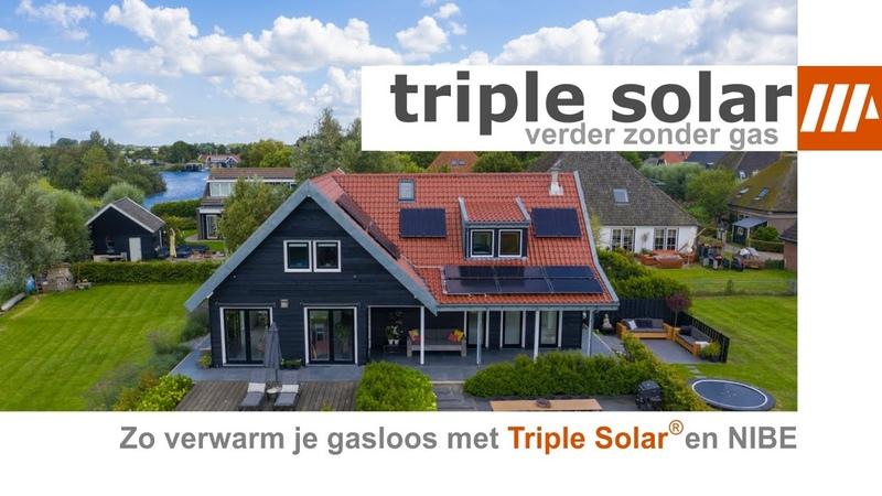Woning gasloos maken met Triple Solar PVT panelen als bron voor de NIBE warmtepomp met zonnepanelen