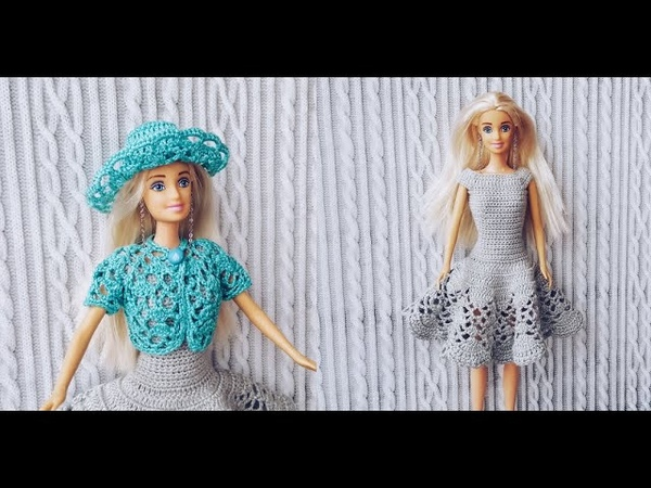 Комплект для куклы Барби крючком. Часть 1. Шляпа (Set for Barbie crochet doll. Part 1. Hat)
