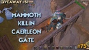 EliteGankers Albion Online PVP Episode 75 - Mammoth killed in Caerleon safe zone 6kk giveaway