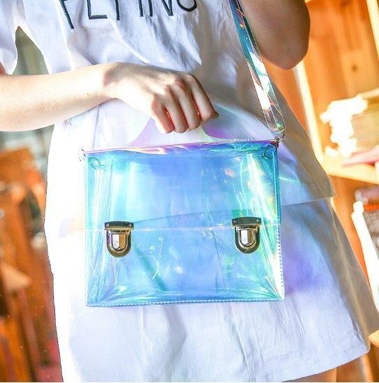 Прозрачные голограммные сумки -