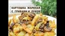 Картошка жареная с грибами / Картошка с Шампиньонами / Простой рецепт