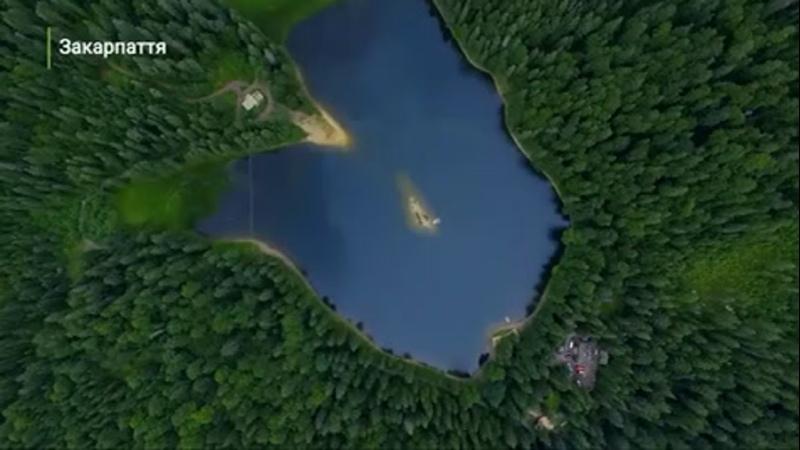 Озеро Синевир Одне з найпопулярніших місць Ураїни