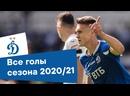 Все голы «Динамо» в сезоне 2020/21