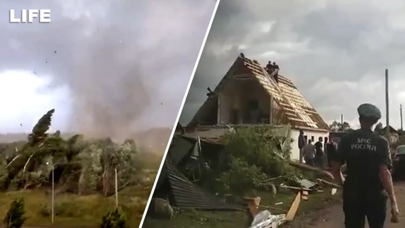 Мощный ураган в Тверской области