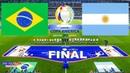 PES 2021 - Copa America 2021 Final - Brazil vs Argentina - Full Match HD Messi Free Kick Goal