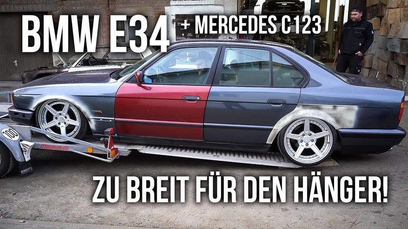 LEVELLA   BMW E34 - Zu breit für den Hänger! Mercedes C123 Ablieferung bei Andy