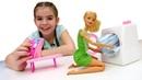 Барби после вечеринки. Делаем уборку с Барби. Игры в куклы для девочек