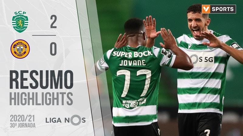 Highlights Resumo Sporting 2 0 CD Nacional Liga 20 21 30