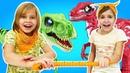 ROBO ALIVE крутые роботы динозавры! Новые веселые игрушки для детей - Видео про игры в динозавры