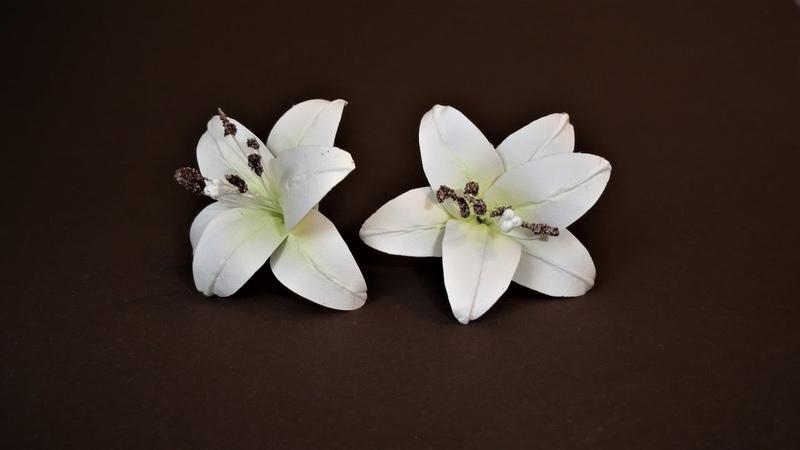 Лилия. МК цветы из бумаги. Скрапбукинг, ч.14