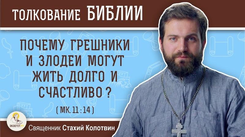 Почему грешники и злодеи могут жить долго и счастливо (Мк.1114) Священник Стахий Колотвин