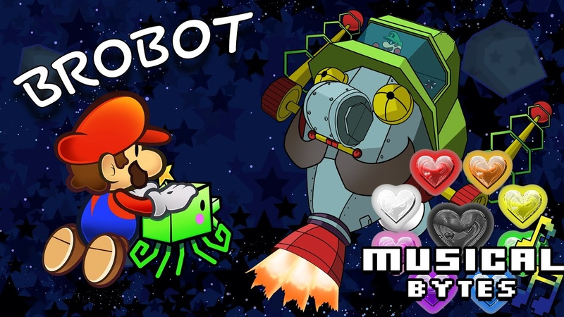 Super Paper Mario Musical Bytes Brobot Battle Man on the Internet