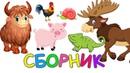 Учим животных Сборник - Зоопарк Викторина Как говорят Животные Развивающие мультики для детей